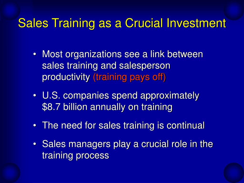 Sales Training as a Crucial Investment