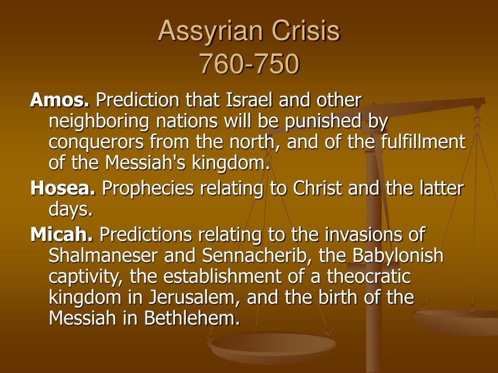 Assyrian Crisis