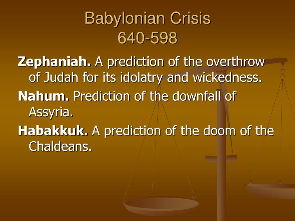 Babylonian Crisis