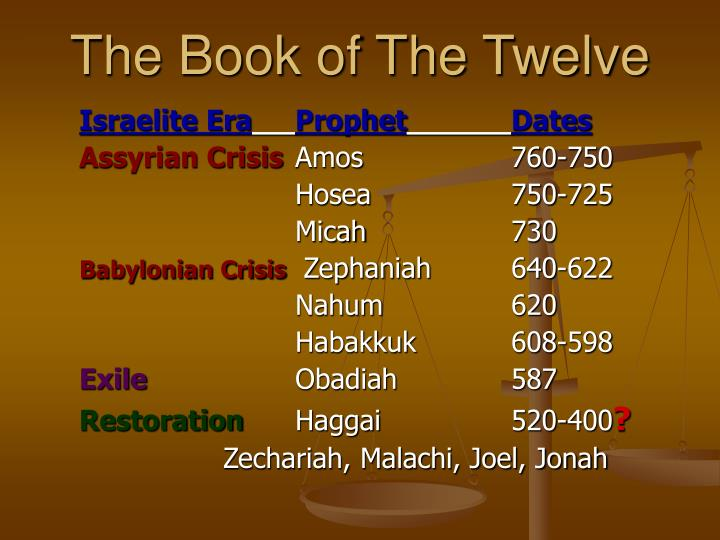 The book of the twelve3