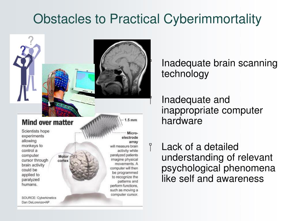 Obstacles to Practical Cyberimmortality