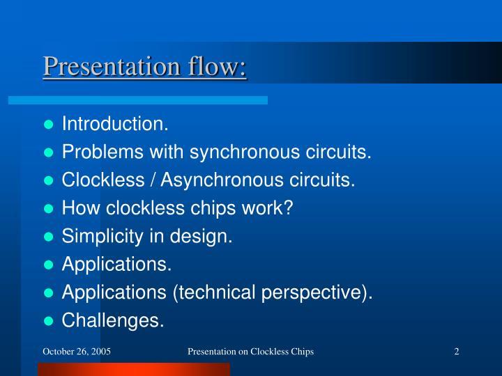 Presentation flow: