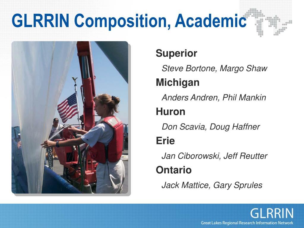 GLRRIN Composition, Academic