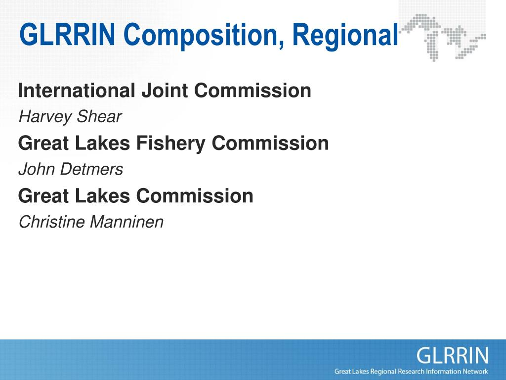 GLRRIN Composition, Regional