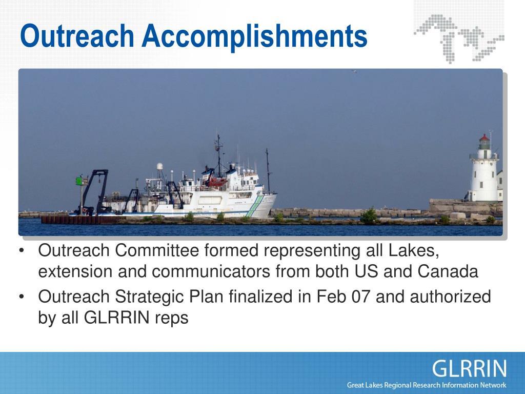 Outreach Accomplishments