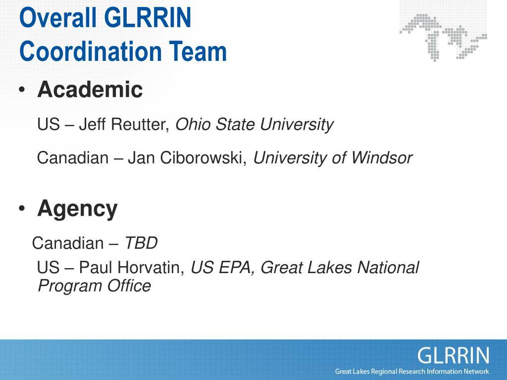 Overall GLRRIN