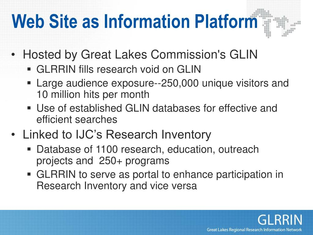 Web Site as Information Platform
