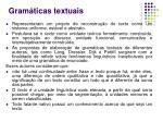 gram ticas textuais