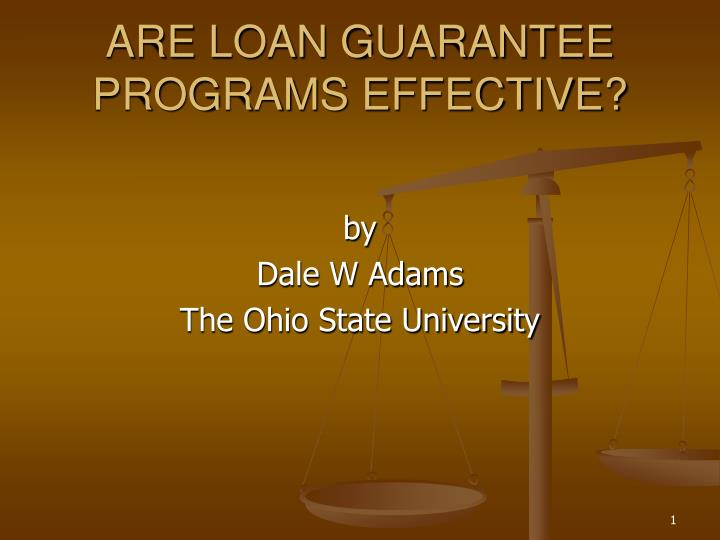 Are loan guarantee programs effective l.jpg