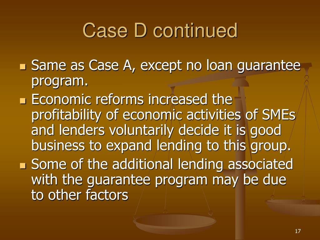 Case D continued