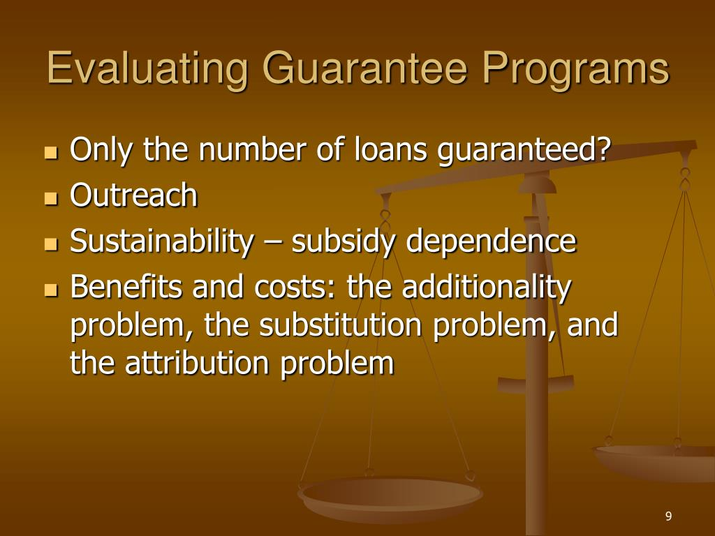 Evaluating Guarantee Programs