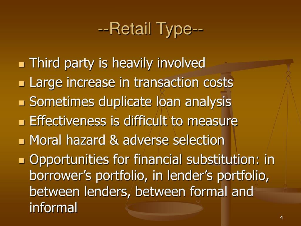 --Retail Type--