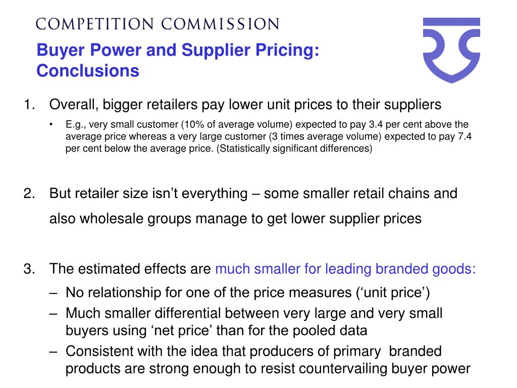 Buyer Power and Supplier Pricing: