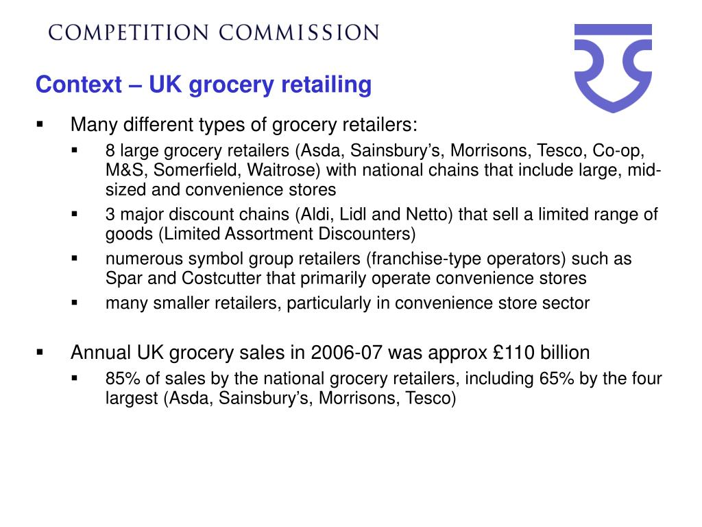 Context – UK grocery retailing