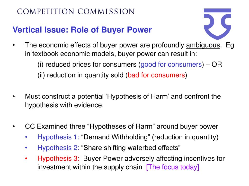 Vertical Issue: Role of Buyer Power