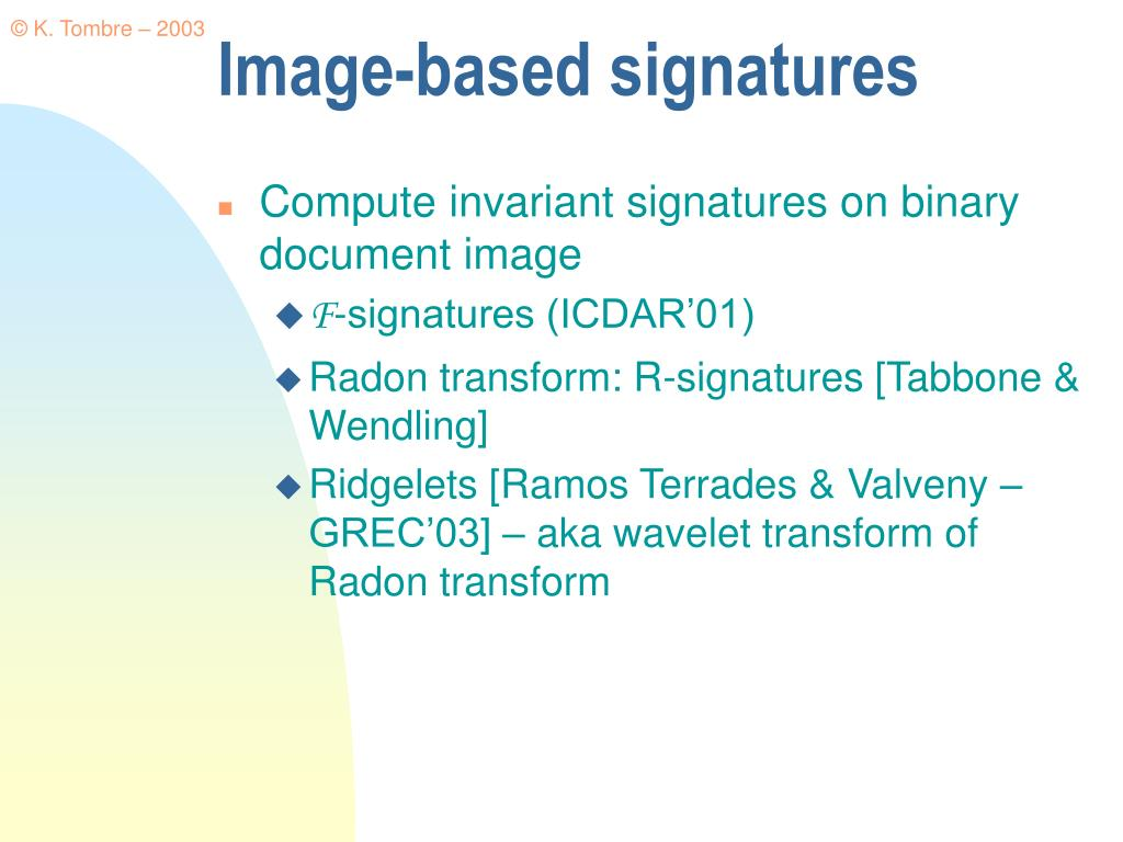 Image-based signatures
