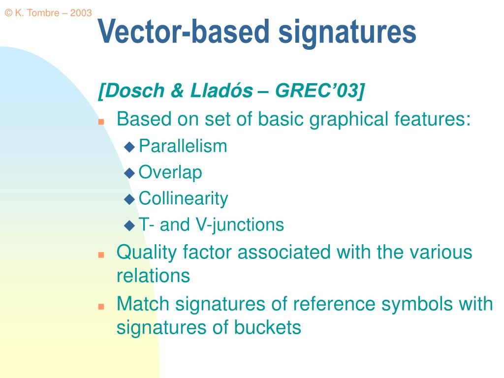 Vector-based signatures
