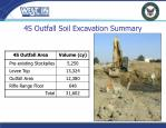 4s outfall soil excavation summary