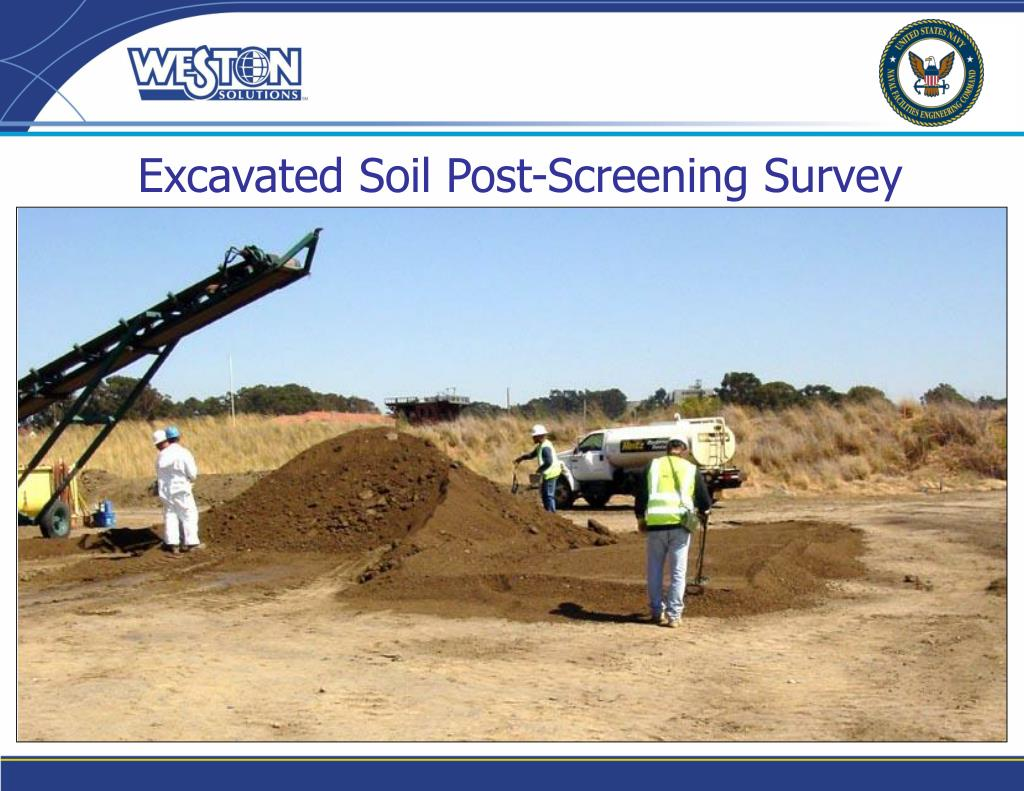 Excavated Soil Post-Screening Survey