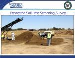 excavated soil post screening survey