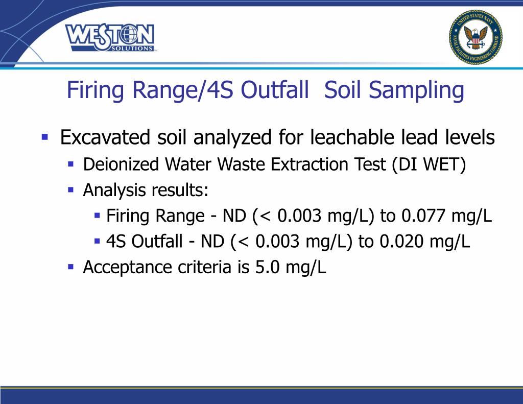 Firing Range/4S Outfall  Soil Sampling