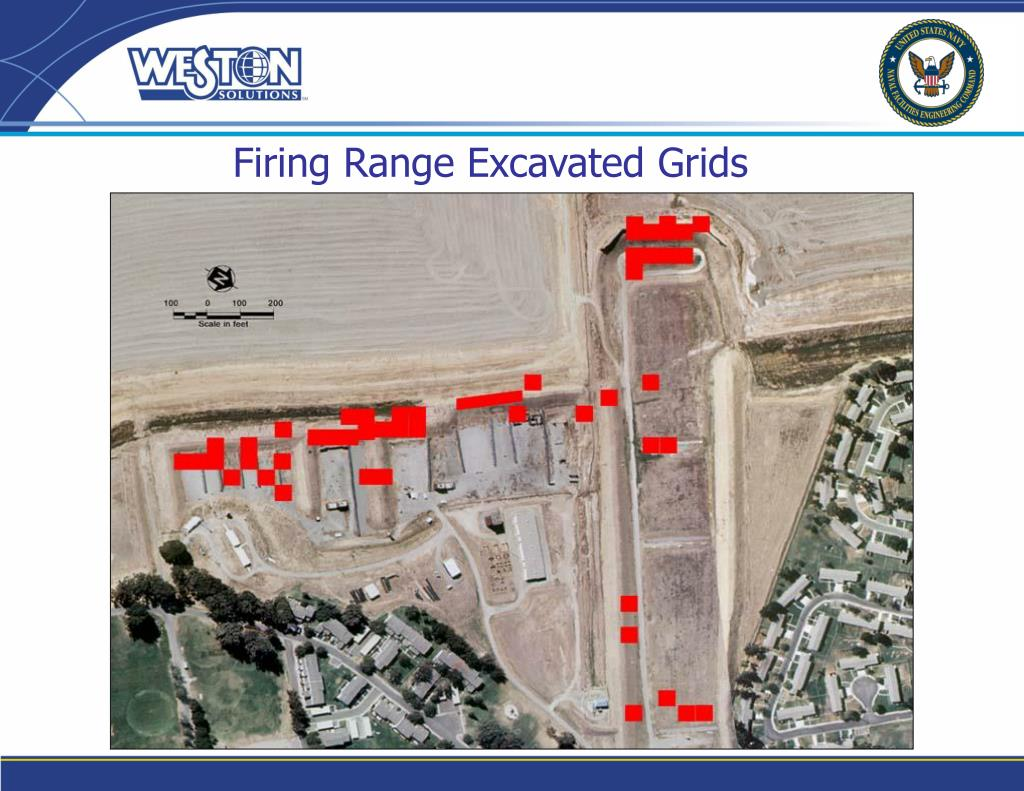 Firing Range Excavated Grids
