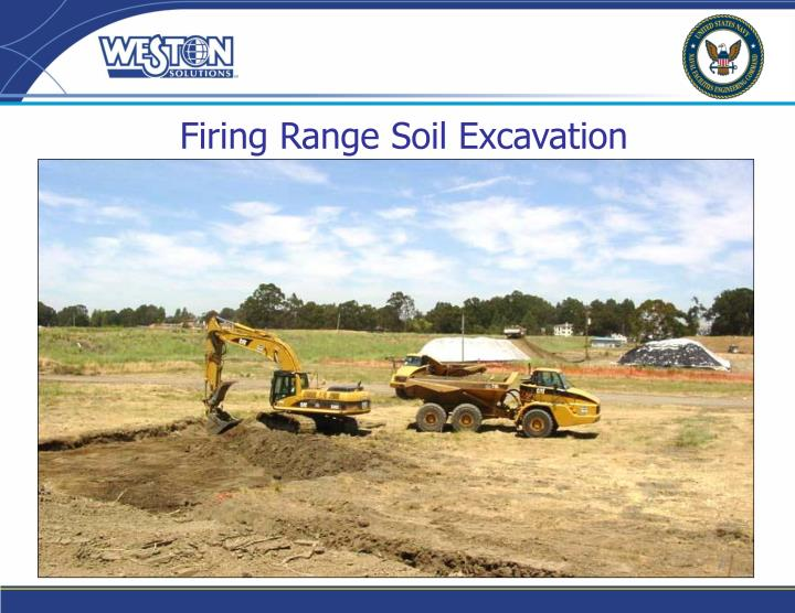 Firing range soil excavation
