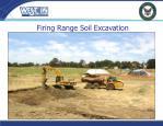 firing range soil excavation