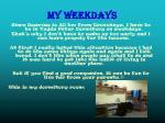 my weekdays