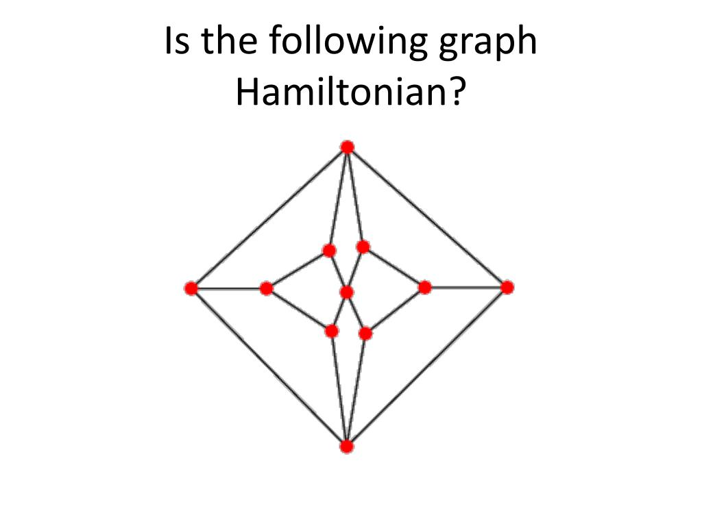 Is the following graph Hamiltonian?