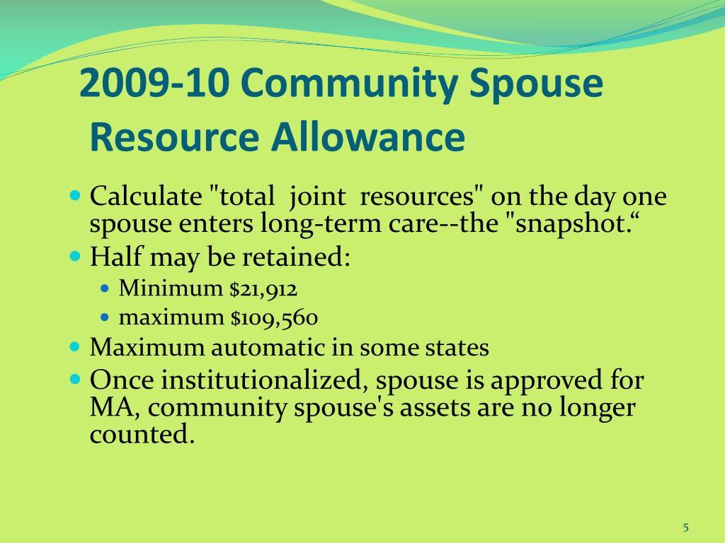 2009-10 Community Spouse