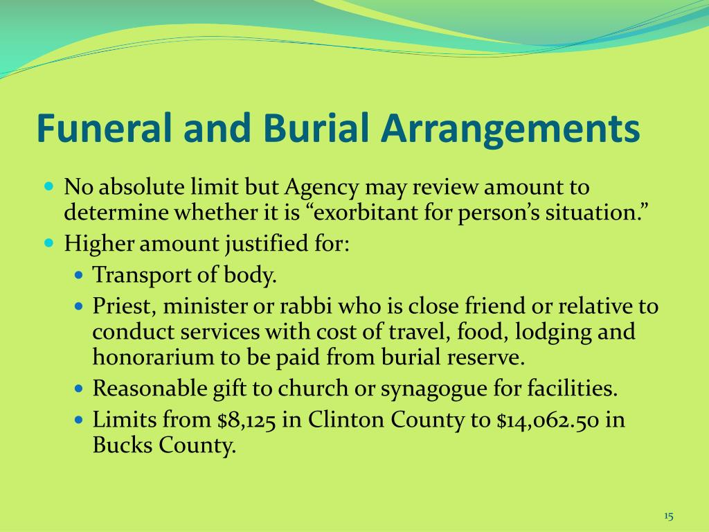 Funeral and Burial Arrangements