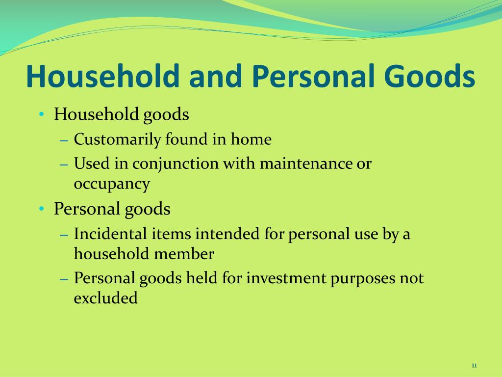 Household and Personal Goods