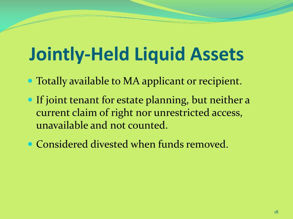 Jointly-Held Liquid Assets