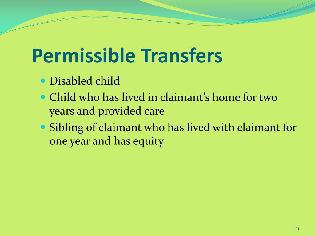 Permissible Transfers