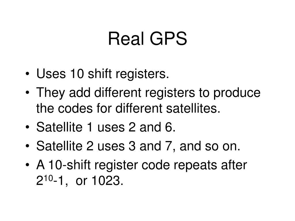 Real GPS