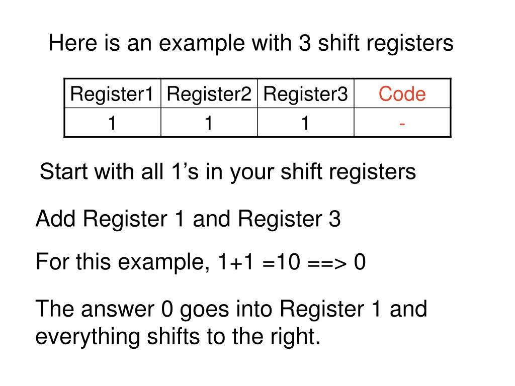 Here is an example with 3 shift registers