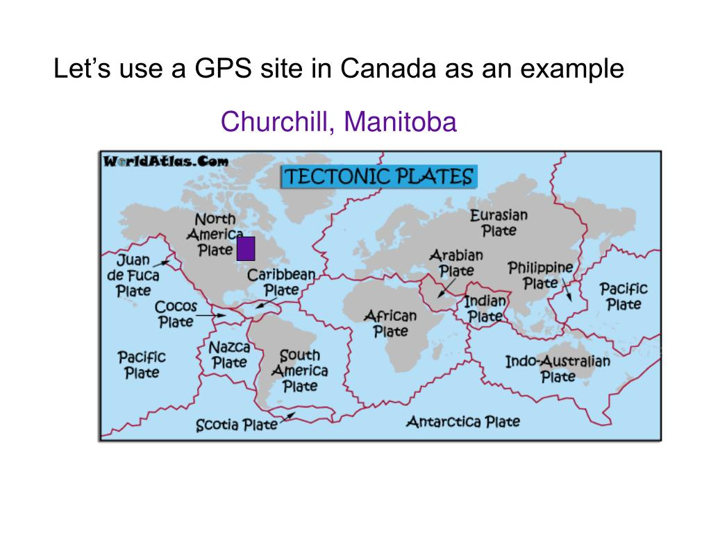 Let's use a GPS site in Canada as an example