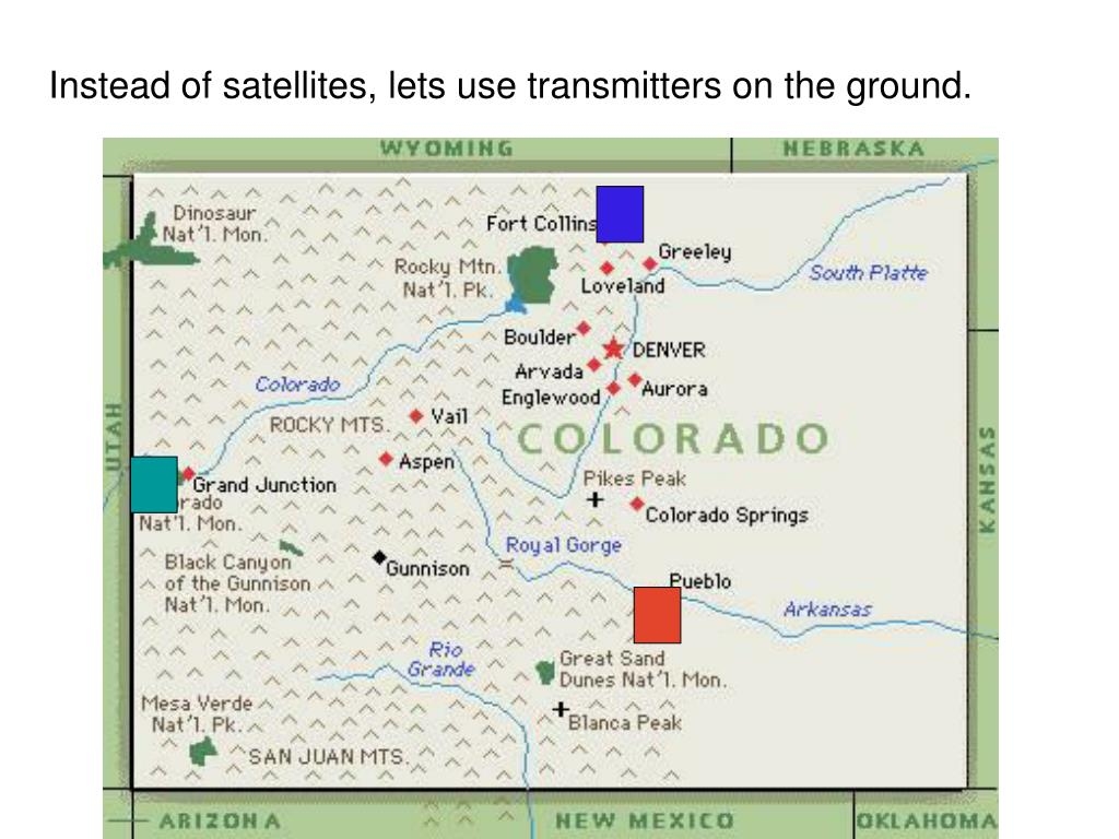 Instead of satellites, lets use transmitters on the ground.