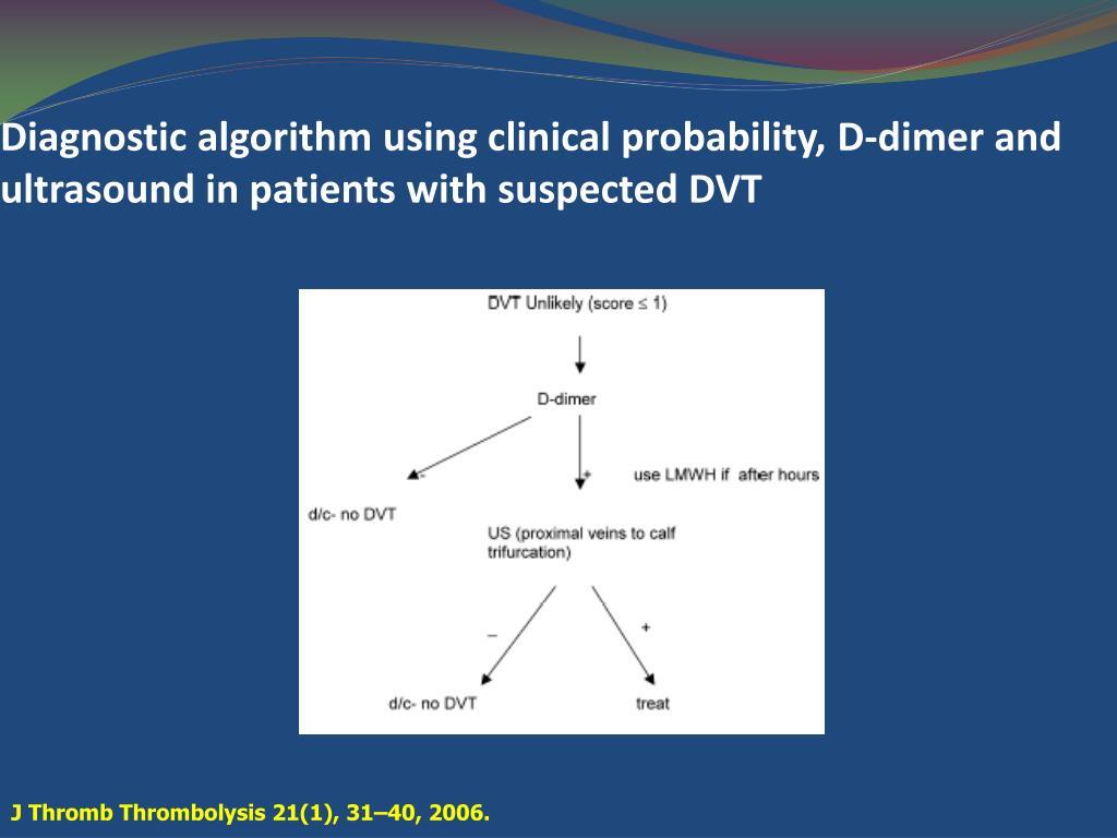 Diagnostic algorithm using clinical probability,