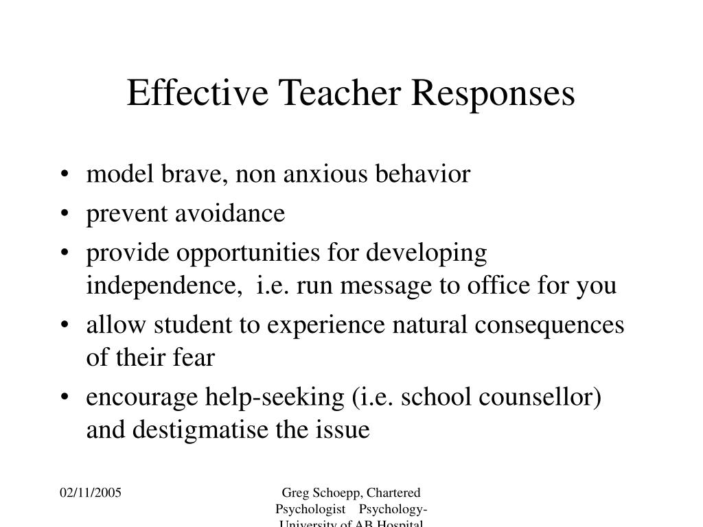 Effective Teacher Responses