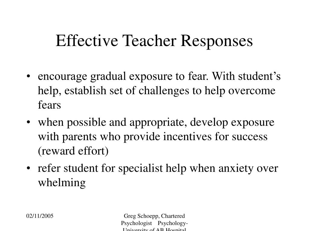 Effective Teacher Responses