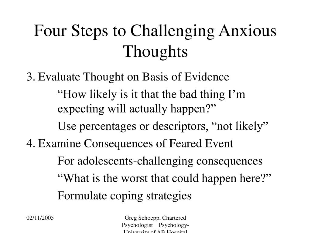 Four Steps to Challenging Anxious Thoughts