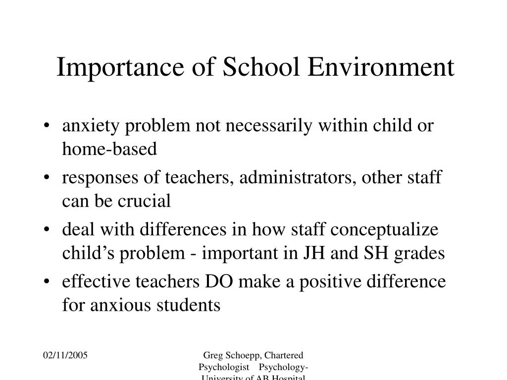 Importance of School Environment