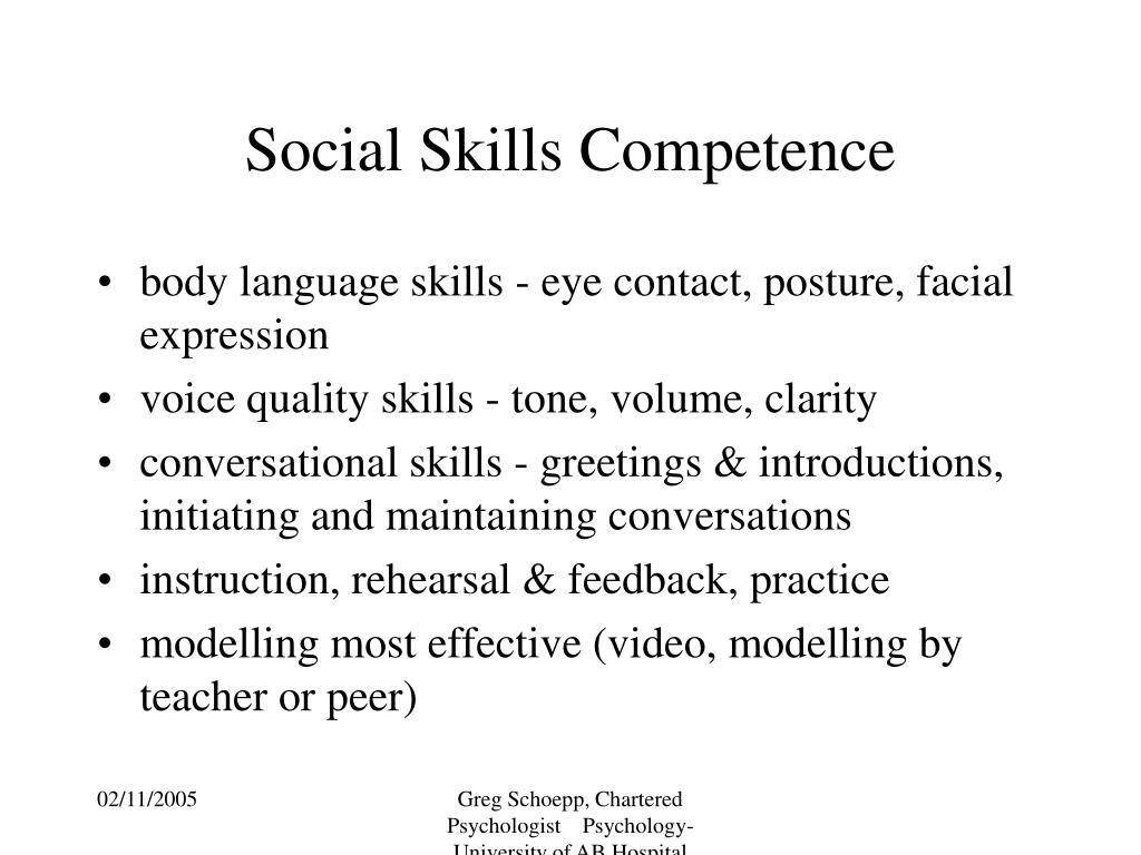 Social Skills Competence