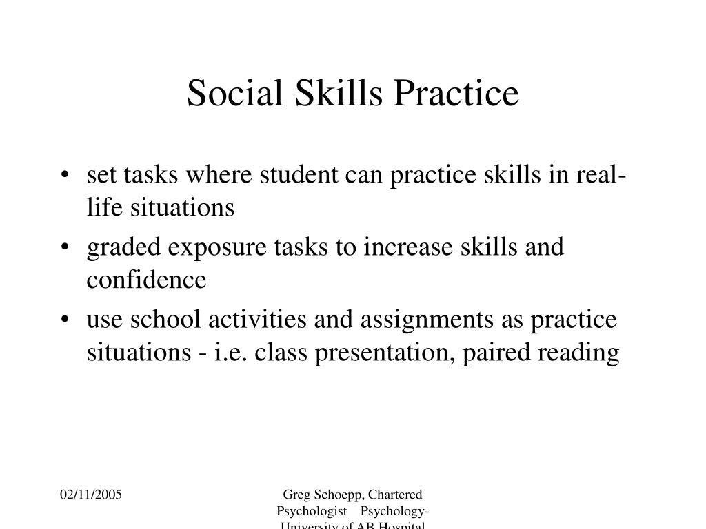 Social Skills Practice