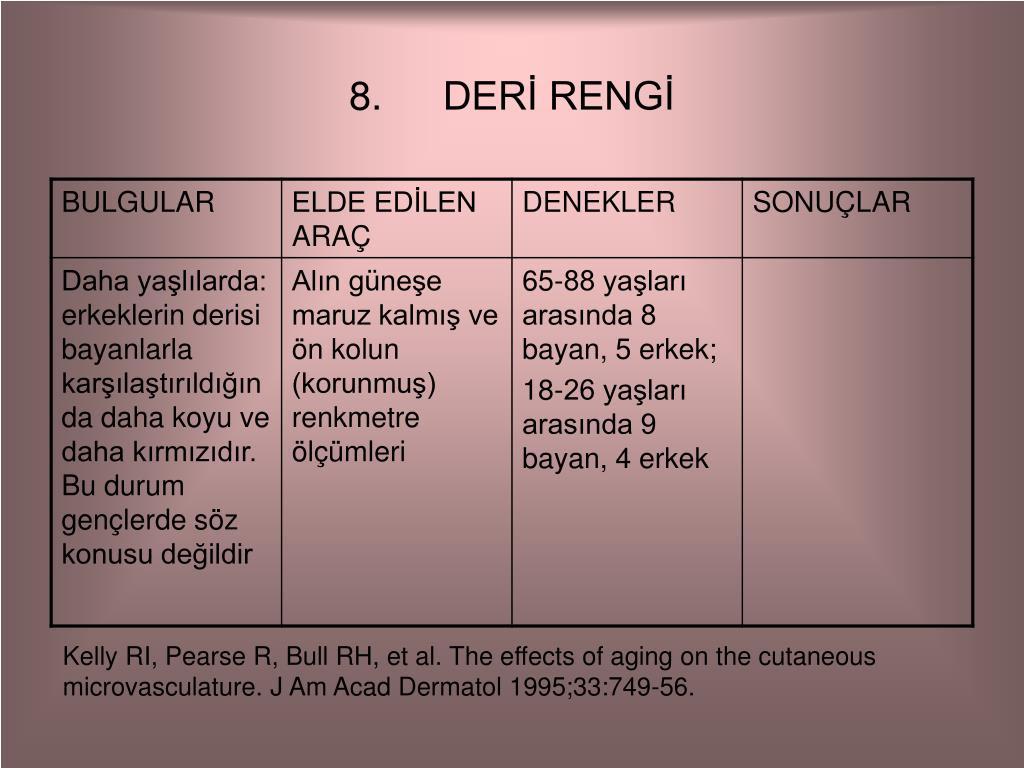 DERİ RENGİ