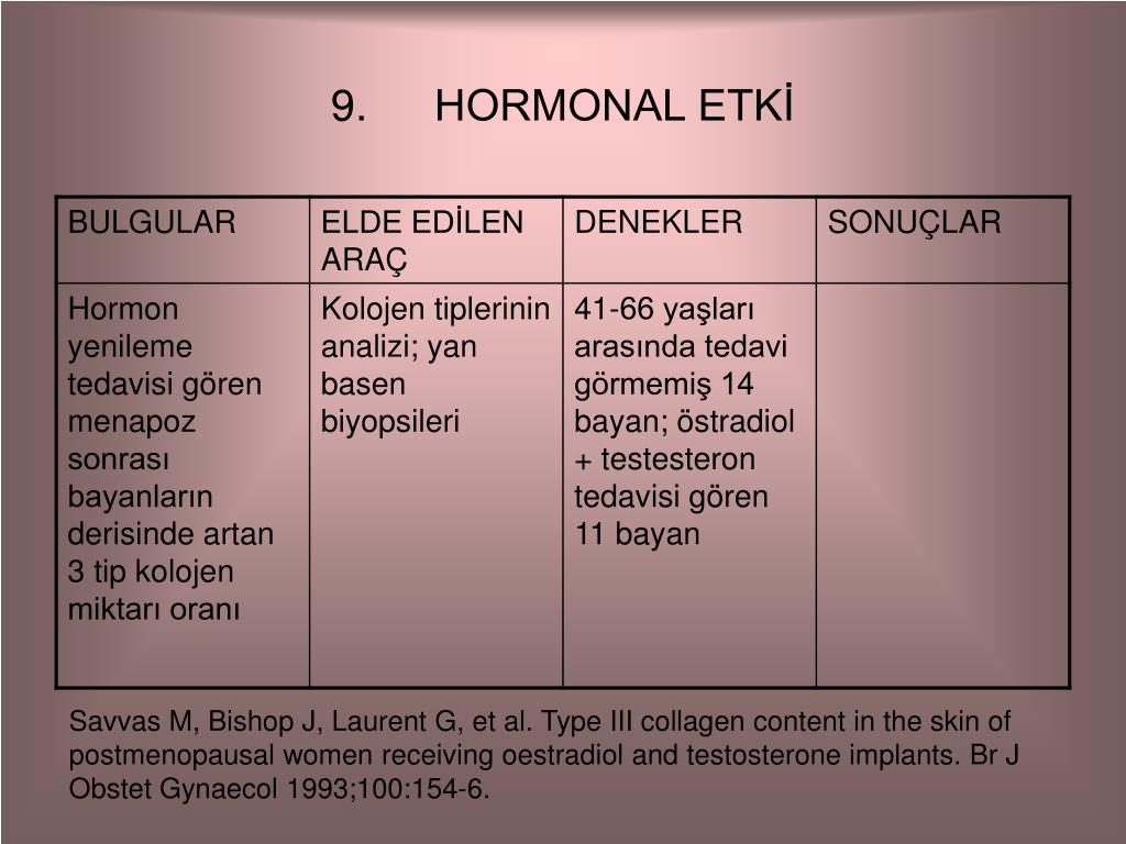 HORMONAL ETKİ