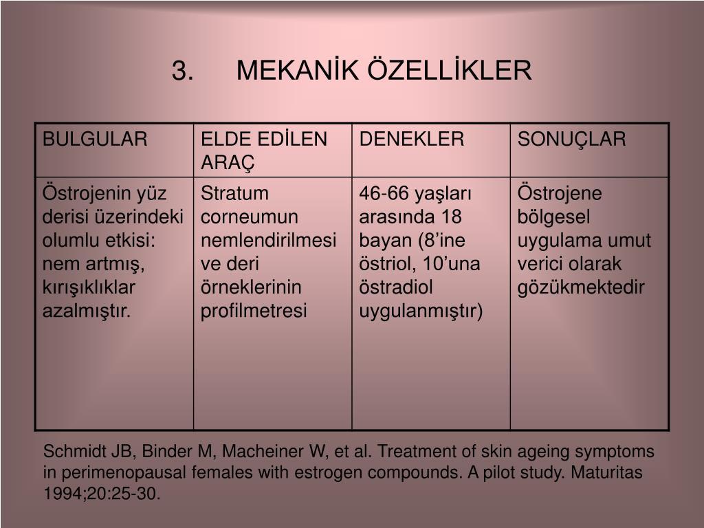 MEKANİK ÖZELLİKLER