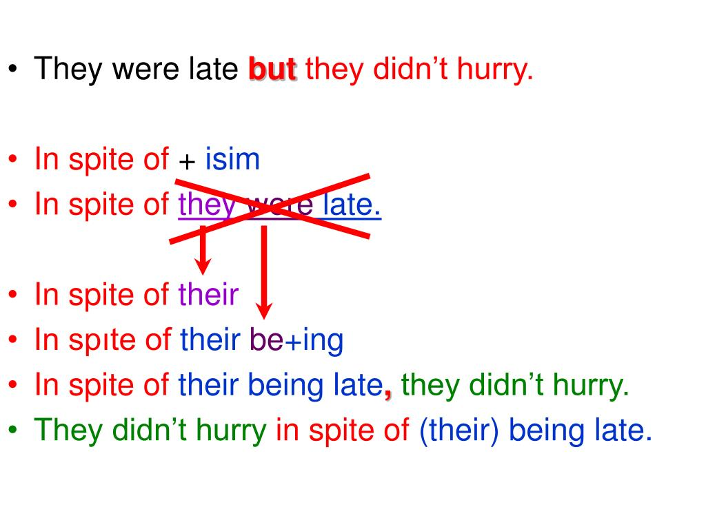 They were late